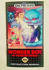 Wonder Boy In Monster World - Sega Genesis - Reproduction Manual, Instruction US