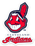 Cleveland Indians Chief Wahoo Logo Type MLB Cleveland Indians Die-cut MAGNET