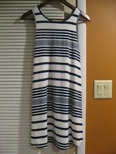 Women's Promesa Striped Dress Stretch Small Summer Dress V-Neck Back USA