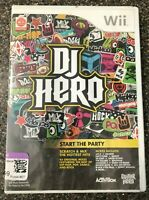 DJ Hero (Nintendo Wii, 2009) Game Only - Complete w/ Manual - Clean & Tested