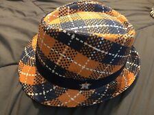 HOUSTON ASTROS GOYA Foods Promotion Men Orange Navy Straw Fedora Hat Cap NEW