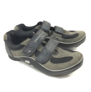 Specialized BG Sport Mens 9 Gray 2 Strap Mountain Bike Clipless Shoes