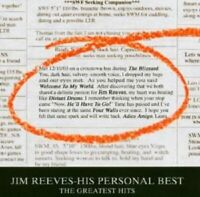 """JIM REEVES """"HIS PERSONAL BEST"""" CD NEW"""