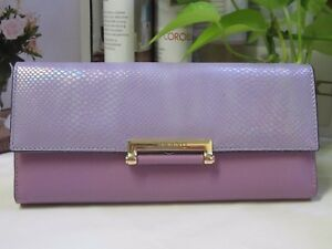 NEW - Lady Cow & Snake Leather Wallet with Tags - Light Purple