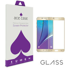 Samsung Galaxy A5 (2016) Screen Protector FULL 3D Coverage Tempered Glass GOLD