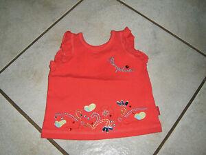 *3 Super T-Shirt PAMPOLINA Gr.74/80 rot Garden Birds viele Glitzersteine neuwert
