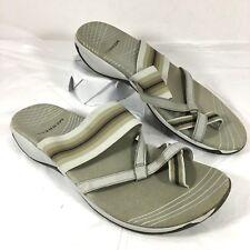 EUC Women's Merrell Zinnia Slides Sandals Beige leather Sz 9