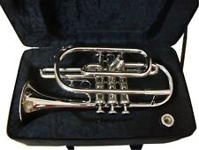 Bb CORNET TRUMPET CHROME  FREE HARD CASE+MOUTHIPIECE+FAST SHIP SUMMER SALE!!!