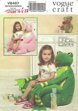 "Vogue 8467 Pattern Children's Animal Chair 21""-23"" Frog Rabbit Linda Carr Uncut"
