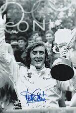 JACKIE STEWART Firmato a Mano 12x8 PHOTO f1 podio.