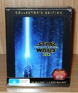 Star Wars -The Force Awakens Collector's Edition 3D Blu-ray + Blu-ray New & Seal