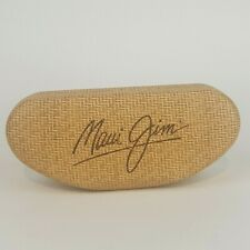 Maui Jim Sunglass Eyeglass Case ONLY Clamshell Hardshell Brown Tan Weave