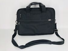 "Tumi Laptop Briefcase Shoulder Canvas Carry Black Padded Bag 15.5"" x 12"""