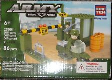 Army Moto & Gate BricTek Building Block Construction Toy Brick Motorcycle 25001