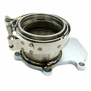 """Turbo Downpipe Flange to 3"""" V-band Adaptor Fit For Cummins Holset HX35/35W/40"""