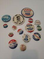 Vintage Political Campaign Buttons pins Vintage Lot 1960s