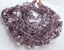 "8"" PINK AMETHYST AMETRINE faceted gem stone geometric nugget beads 8mm - 11mm"