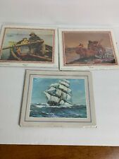 """Lot of 3 Picture/Art Print Poster 8"""" x 10"""" Sailing boat Pictures"""