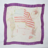Antique Vtg WWI or WWII ? Handkerchief American U.S. Flag Soldier Military War