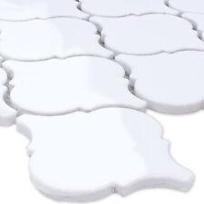 Mosaik Fliesen Keramik Florentiner Weiss Glänzend