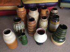 12 x WEST GERMAN POTTERY Retro Vases MID CENTURY FAT LAVA Lot