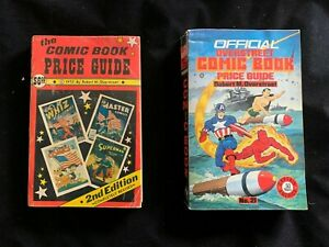 Vintage Overstreet Comic Book Price Guides - 1972 and 1991