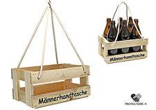 Bierträger - Flaschenträger - Männerhandtasche - Getränkekorb - Sixpack - leer -