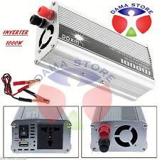 INVERTER 1000W 12V 220V TRASFORMATORE AUTO CAMPER PRESA USB BARCA POWER