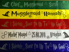 Harry Potter Themed Personalised Hen Party Birthday Sashes