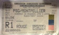 TICKET / BILLET PSG-MONTPELLIER 20/12/1996 D1 paris saint germain sg no maillot