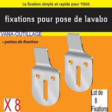 Lot 8 Support Acier 2,5 mm,Pattes Fixation Mural,Lavabo,Evier,écart du Mur:10 mm