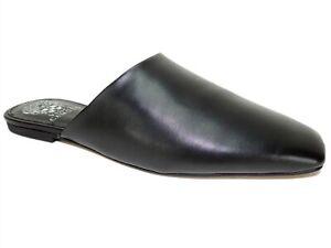 Vince Camuto Women's Larsina Square-Toe Mules Black Leather Size 8 M