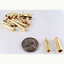 Gold Plated 4mm Bullet Connectors - 10 Pairs (10 Male + 10 Female) LW