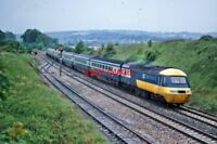 PHOTO  HST IN INTER CITY 125 LIVERY AT  WHITEBALL 1980'S