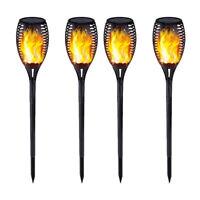 4 Pack Solaire Vacillante LED Paysage Lampes Danser Flamme Torche Jardin Lumière