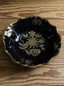 ILMENAU Graf von Henneberg - schöne Porzellan Schale Gold verziert - Echt Kobalt