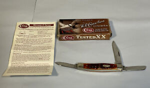 Case xx 2009 Stockman Knife Jigged Chestnut Bone Handle CV Pocket folding 07008
