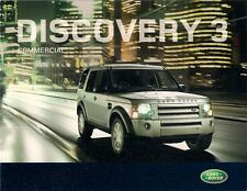 Land Rover Discovery 3 Commercial 2008-09 UK Market Sales Brochure XS