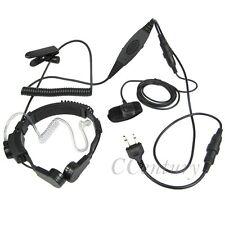 2 Pin FBI VOX PTT Heavy Duty Tactical Throat Mic Headset For ICOM Radio IC-F3S