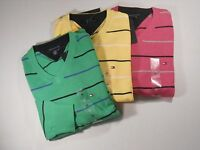 Tommy Hilfiger Mens Long Sleeve Pull Over Stripe V-Neck Sweater