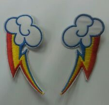 Pair of Rainbow Dash 3 inch Cutie Mark  embroidered patch