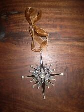 DANISH LUXURY AUSTRIAN CRYSTAL BETHLEHEM HOLY STAR HANGING CHRISTMAS DECORATION.