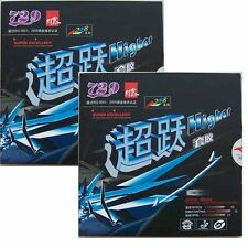 2x Friendship RITC Pips-in Table Tennis Rubber/Sponge: 729 Higher, Tension Tech