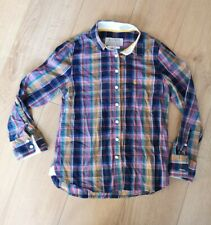 Jack Wills Check Shirt UK Size 10 Shrunken Boy Fit Yellow Blue Purple