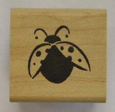 Rubber Stamp Ladybird Ladybug - wood mounted DD