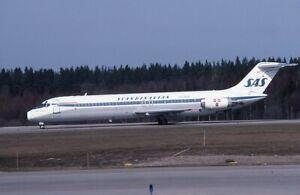 Scandinavian Airlines SAS Douglas DC-9 o/c OY-KGG - Kodachrome 35mm slide