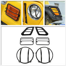For Jeep Wrangler TJ 1997-2006 Headlight Turn Signal Stainless Stone Guard Kit