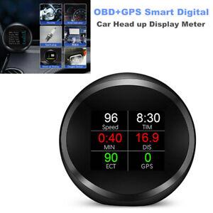 Car Head up Display Device OBD+GPS Smart Digital Fault Code LCD Speed Meter RPM