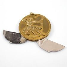 Hickok Vintage Estate Gold Filled Astrology Cigar FOB Pocket Knife Pendant QX