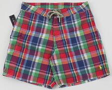Men's POLO RALPH LAUREN Multi Colors Plaid Swimsuit Trunks 32 NWT NEW 4103214